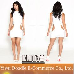 Free Shipping Sexy bandage dress 2014 Summer White Cut Out dress bodycon bandage dress Night Club Wear Fashion Women $12.99