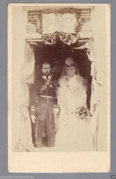 Royalty CDV Marriage King George V Queen Mary very rare cdv Queen Mary, King George, Descendants, Old And New, Royals, Postcards, Marriage, Painting, Ebay