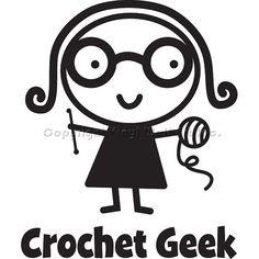 one Crochet Geek car decal