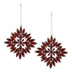 Handmade Decorations Red Rhinestones Snowflake Decor Ornaments Set of 2 by ShalinIndia, http://www.amazon.com/dp/B009KZ3DXM/ref=cm_sw_r_pi_dp_sy9psb1FGPVVW
