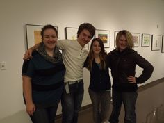 Toledo School for the Arts students Grace Parr, Drew Fleniken, Kim Fisher and Madison Littin assist Toledo Museum of Art docents in giving tours.  (Toledo Free Press, December 2012)