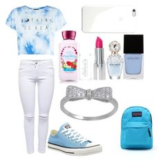 Back to school outfits for middle school #6 by shamya2003 on Polyvore featuring polyvore, fashion, style, Lipsy, Converse, JanSport, Witchery and Marc Jacobs