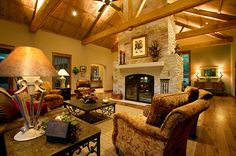 Family Room, Texas Hill Country style...