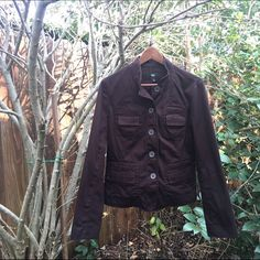 Dark brown Merona jacket Fitted dark brown jacket. A perfect piece for a dressed up but still casual day around town. Great color that goes with everything. Excellent used condition. Merona Jackets & Coats