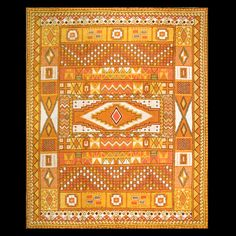 Yellow Moroccan rug.  Oriental & European antique & decorative rugs and carpets at Rahmanan Antique & Decorative Rugs