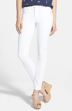 Hart Denim 'Amy' Stretch Skinny Jeans (White) (Juniors) available at #Nordstrom