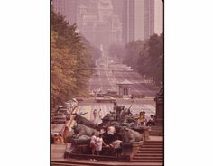 vintage Philly 1973: From The Steps Of The Philadelphia Museum Of Art - Looking Down Benjamin Franklin Parkway Toward City Hall And Center City