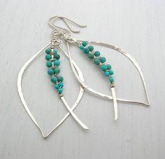 Jewelry Making – Fine Sea Glass Jewelry Wire Wrapped Earrings, Beaded Earrings, Earrings Handmade, Beaded Jewelry, Handmade Jewelry, Boho Jewelry, Leaf Earrings, Personalized Jewelry, Fashion Jewelry