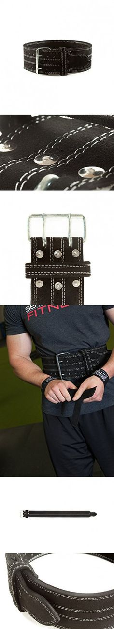 """Serious Steel Fitness Leather Weight Lifting Belt 