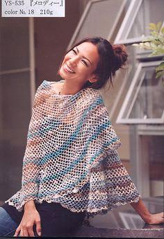 NORO crochet shawl