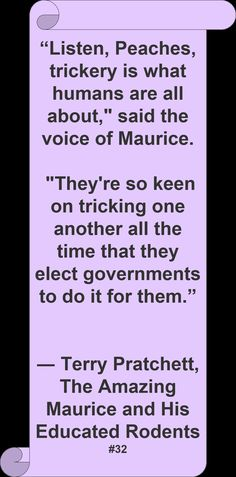Terry Pratchett's accurate quote on governments