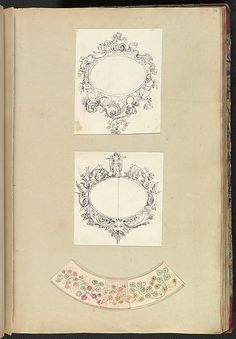 Alfred Henry Forrester [Alfred Crowquill] | Designs for Two Mirrors and a Plate Rim | The Metropolitan Museum of Art