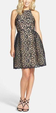 Printed black floral dress
