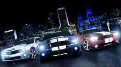 Camaro Ford Mustang Cobra Dodge Challenger Srt 2012 Voitures
