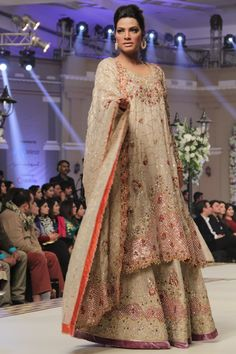 Tena Durrani Bridal Embroider dress collection 2016