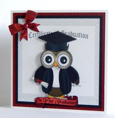Very cute little owl is perfect for the very wise people graduating. With his mortar board, gown and certificate its sure to be a hit. Quick and easy to make