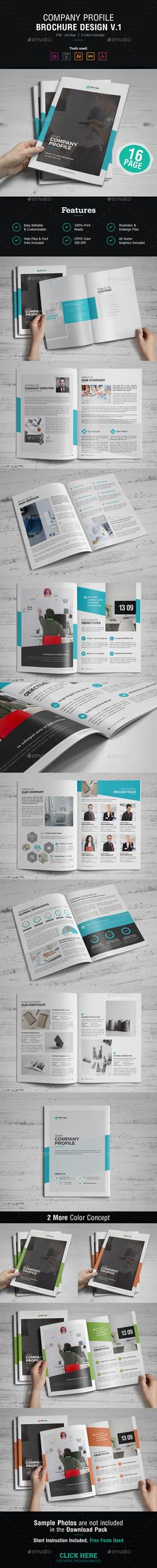 Brochure For Company Profile Ver  FontsLogosIcons