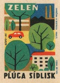 czechoslovakian matchbox label via maraid