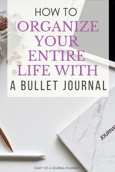 Learn how to get organized and on track with your life using a bujo. Find the best ideas and pages to be in control of your life, plus journal organization Ideas to improve productivity