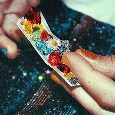 Smoke flowers and diamonds