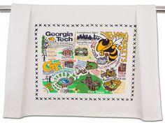 GEORGIA TECH COLLEGIATE DISH TOWEL