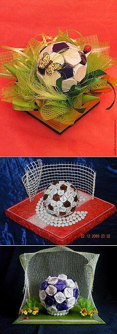 Конфетный мяч - необычный сладкий подарок для футболиста или болельщика.