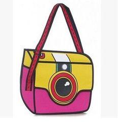 Unique 2D Canvas Messenger Bag