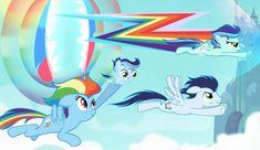 New My Little Pony, My Little Pony Princess, My Little Pony Drawing, Sad Pictures, My Little Pony Pictures, Rainbow Dash And Soarin, Disney Pop Art, Raimbow Dash, My Little Pony Wallpaper