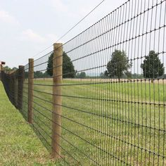 Grassland Fence With Hinge Joint Knot Fixed Knot From m to m No Climb Horse Fence, Pasture Fencing, Horse Fencing, Farm Fence, Garden Fencing, Cattle Panel Fence, Wood Fences, Fence Panels, Diy Backyard Fence