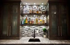 Like for the back bar   May Basement Renovation - contemporary - wine cellar - calgary - Urban Abode