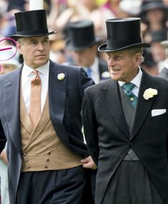 (L) Prince Andrew, Duke of York and his Father Prince Philip, Duke of Edinburgh attend Day 3 of Royal Ascot 2014 Duchess Of York, Duke Of York, Duke And Duchess, Duchess Of Cambridge, Prince Andrew, Prince Phillip, Royal Clan, Order Of The Garter, Edinburgh