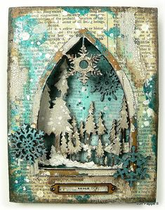 Calico Craft Parts: Snow (French: la neige) - by Claudia