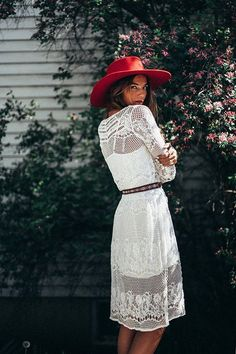 Awesome white dress for spring.