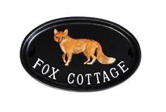 Fox cottage house sign with a beautifully hand painted fox motif. House Name Signs, House Names, Home Signs, Log Cabin Furniture, Rustic Wood Furniture, Western Furniture, Furniture Design, Cottage Names, Cottage Signs