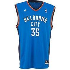 adidas Men's Replica Oklahoma City Thunder Kevin Durant Jersey