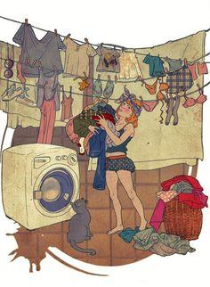 Retour de vacances / Adèle illustration