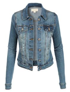 This is one style that will never die! A vintage denim jacket is that perfect little touch to top off an outfit! 98% Cotton 2% Spandex