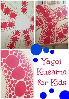 Yayoi Kusama with kids - http://www.oroscopointernazionaleblog.com/yayoi-kusama-with-kids-2/