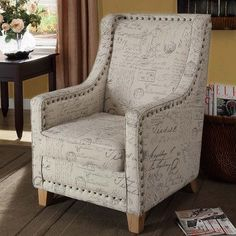 Edmond Vintage French Fabric Chair
