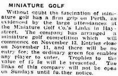 The Daily News (Perth, WA : 1882 - Friday 7 November page 10 Putt Putt Golf, Dance Marathon, Miniature Golf, Daily News, Perth, November, Friday, November Born