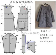 Awesome 30 Sewing tutorials projects are readily available on our internet site. Kids Patterns, Coat Patterns, Dress Sewing Patterns, Sewing Patterns Free, Clothing Patterns, Sewing Coat, Sewing Clothes, Fashion Sewing, Diy Fashion