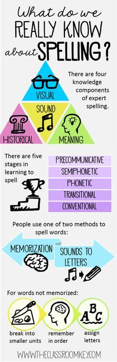 Spelling infographic for literacy teachers in first, second, and third grade #teachingspelling