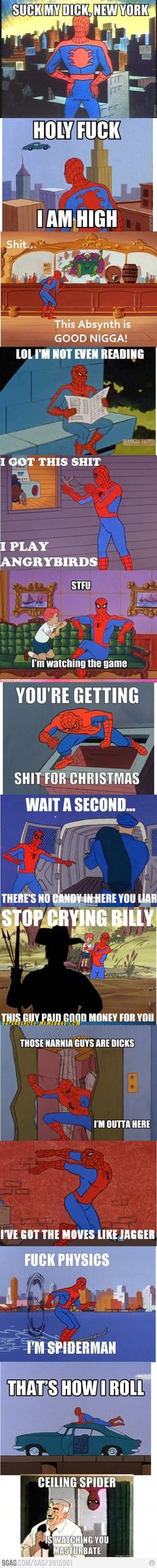 "The best of the 60s Spider-man meme. lol ""You're getting shit for Christmas""... all of them, really"
