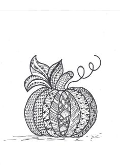 pumpkin zentangles - Google Search