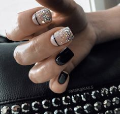 New Nail Art Ideas For Your Inspiration New Nail Art Ideas For Your Inspiration,Nails Related schicke weiße Acrylnägel Kopieren - of The Most Fabulous Sparkle Wedding Nail Art Designs Stylish Nails, Trendy Nails, Cute Nails, Short Nail Designs, Nail Art Designs, Short Nails, Long Nails, Hair And Nails, My Nails