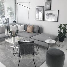 Living Room Decor Ikea, Living Room Colors, Living Furniture, My Living Room, Interior Design Living Room, Home And Living, Living Room Designs, Apartment Makeover, Minimalist Home Interior