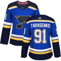 Adidas St. Louis Blues  91 Women s Vladimir Tarasenko Authentic Royal Blue Home  NHL Jersey 4ca2695e1