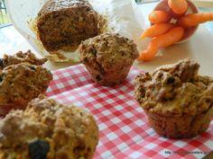 ΚΕΙΚ ΚΑΡΟΤΟΥ ΝΗΣΤΙΣΙΜΟ Vegan Carrot Cakes, Carrots, Muffin, Breakfast, Healthy, Recipes, Food, Breakfast Cafe, Muffins
