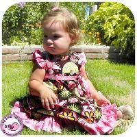 Birthday party dress - newborn to 24 mth - via @Craftsy