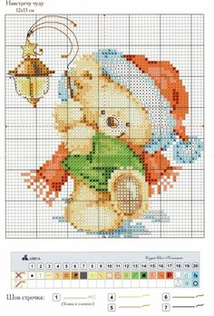 Little Bear [Cross Stitch - Christmas - Kids - Animals] [Pattern / Chart]
